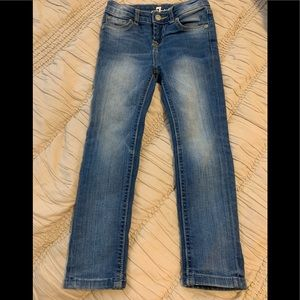 7 for all mankind girls skinny jeans